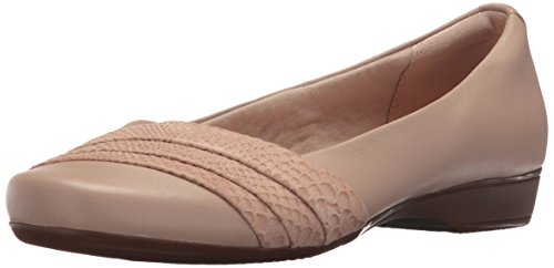 Clarks Women's Blanche Cacee Flat Sand Leather 0mUCc