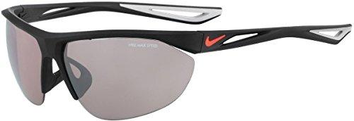 NIKE EV0948-006 Tailwind Swift E Frame Speed Tint Lens Sunglasses, Matte Black/Bright Crimson ()