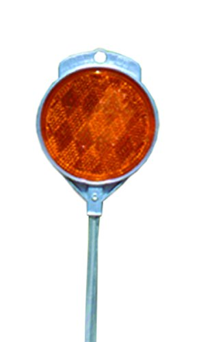 Post Reflector - Accuform Signs FRW963OR Ground Stake Reflector (Driveway Marker), 2-Sided Plastic Reflector Mounted onto 48