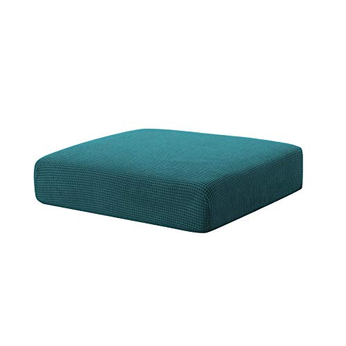 Hokway Sofa Cushion Slipcovers Stretch Spandex Cushion Protector Slipcovers (Teal, Chair Cushion) (Outdoor Seat Cushion Deep)