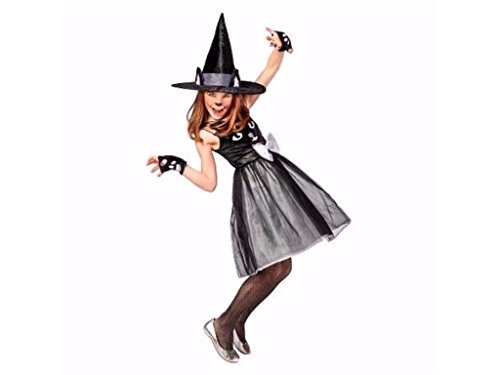 Kids Cat Witch Halloween Costume Includes Dress Hat and Mittens Size Large (Target Costumes Halloween)