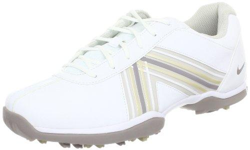 Nike Golf Women's Nike Delight IV Golf Shoe,White/Vapor Mauve/Gamma Grey,10 M US