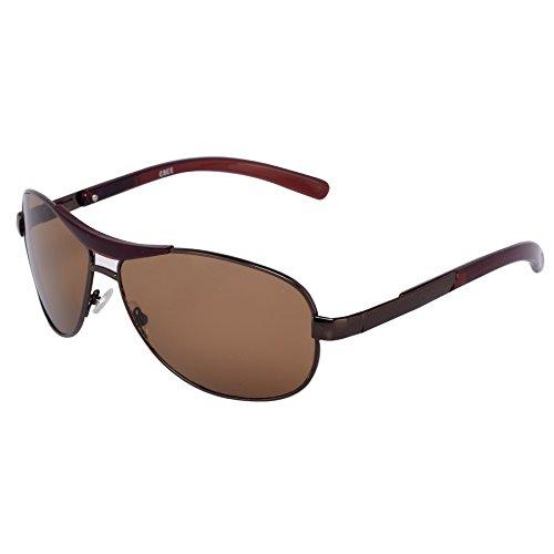 Silver Kartz Oval Unisex Sunglasses (wy073|40|Brown)