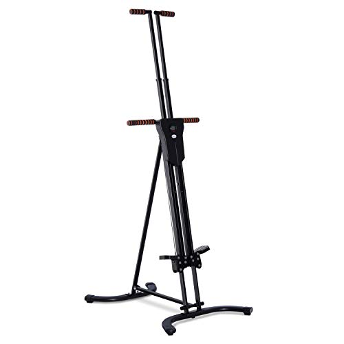 Soozier Folding Adjustable Step Machine Vertical Climber Exercise Fitness Equipment