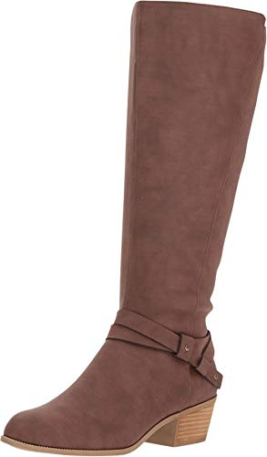 17 Inch Knee Boot - Dr. Scholl's Baker Wide Calf Toasted Coconut Smooth 7