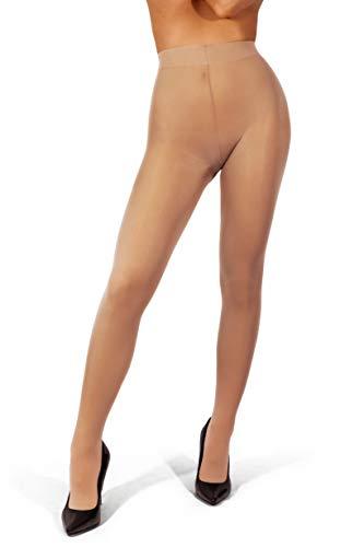 sofsy Ondoorzichtige Microvezel Panty voor Dames – Onzichtbaar Versterkte Ondoorzichtige Korte Panty 40Den [Made In…