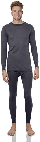 Rocky Thermal Underwear for Men Fleece Lined Thermals Men's Base Layer Long John