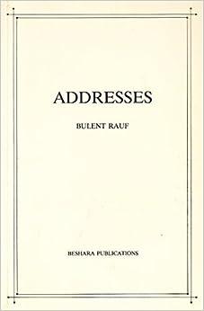 Book Addresses by Bulent Rauf (1986-05-03)