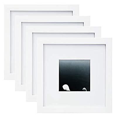 "Egofine 8x8 Picture Frames 4 PCS - Made of Solid Wood for Table Top Display and Wall Mounting Photo Frame for Pictures… - CLASSIC STYLE. Dress up any room in your home or office, Great gift for festival, best friend birthday. Display your photographs, travel souvenirs, concert programs, awards, certificates, artwork SOLID WOOD, Made with premium solid wood. fit standard 8x8"" pictures or prints, generous 2cm solid wood, Transparent acrylic glass to protect against dust and moisture. The wooden frame will be a long-lasting way to showcase your favorite memories. WALL MOUNT Includes eight nails to easily hang artwork or photographs in either portrait or landscape orientation - picture-frames, bedroom-decor, bedroom - 31lbxqIfUNL. SS400  -"