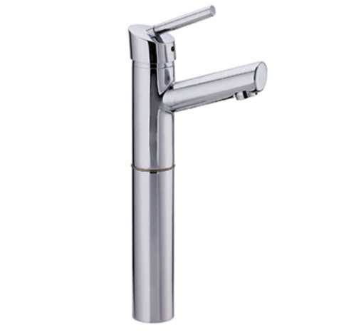 Whitehaus 3-3245-SS Centurion 4 3/4-Inch Single Hole/Single Lever Elevated Lavatory Faucet with 7-Inch Extension and Short Spout, Stainless Steel Centurion Single Hole