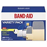 Johnson & Johnson Band Aid Variety Pack, Wet Flex/Sheer, 280/BX, Assorted Size
