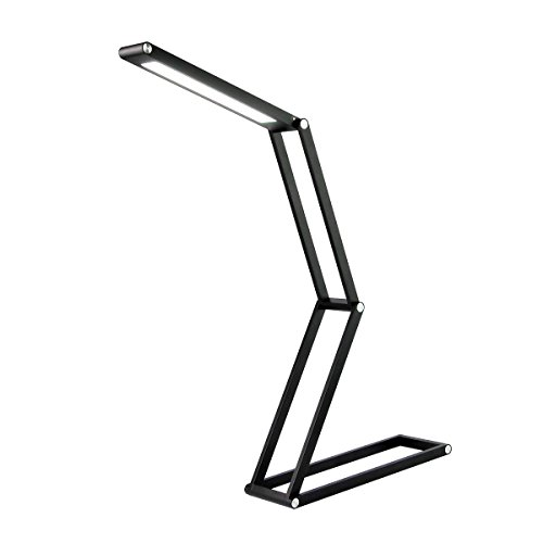 LED Desk Lamp, Dimmable Eye-Caring Aluminium Alloy Table Lamp, Toplife Foldable USB Rechargable Reading Light for Kids&Adults Home Studying Office Working and Camping(Black) by Toplife