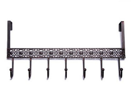 (Classi Cinnamon Design Home Wall Mount 7 Heavy Duty Row Hooks,Coat Rack, Wrought and Cast Iron)