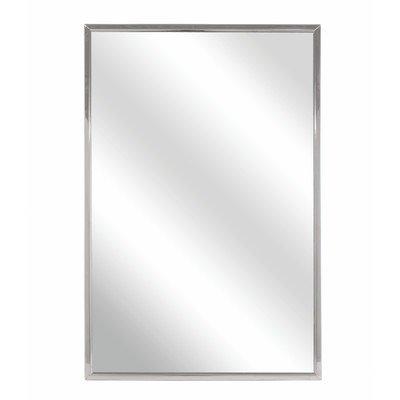 Bradley 781-024600 Roll-Formed Channel Frame Float Glass Mirror, 24'' Width x 60'' Height