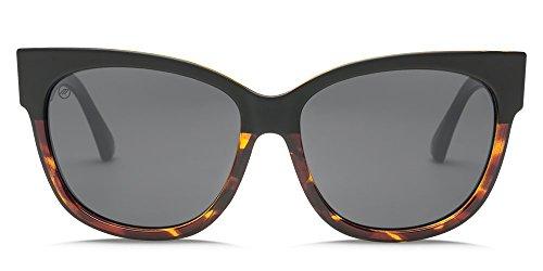 Electric Eyewear Women's Danger Cat Polarized Pineapple Tortoise/Ohm Green Chrome - On Tortoise Cat