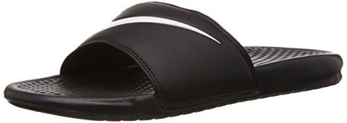 Nike Men's Benassi Swoosh Slide Sandal (16 D(M) US, Black)