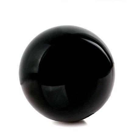 TR.OD Black Obsidian Sphere Large Crystal Cosplay Ball Stone Sphere Globe Dia. 50mm