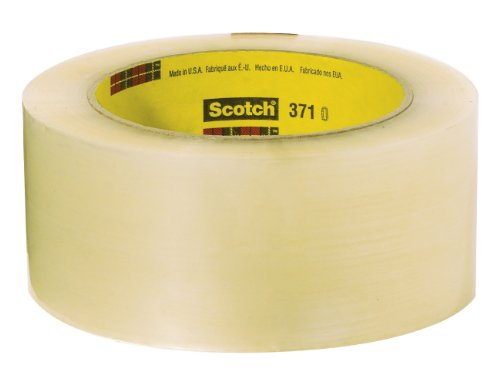 Scotch Box Sealing Tape 371 Clear, 72 mm x 50 m, Performance, Conveniently Packaged (Pack of 6)