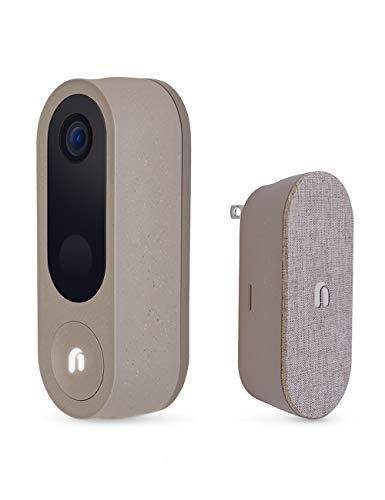 Nooie WiFi Video Doorbell Camera with Chime, Wireless Smart Camera Doorbell with 2k Resolution, Dual Band 2.4/5Ghz, Human Detection, 2-Way Audio, Built-in Siren, IP66 Waterproof, Easy Installation