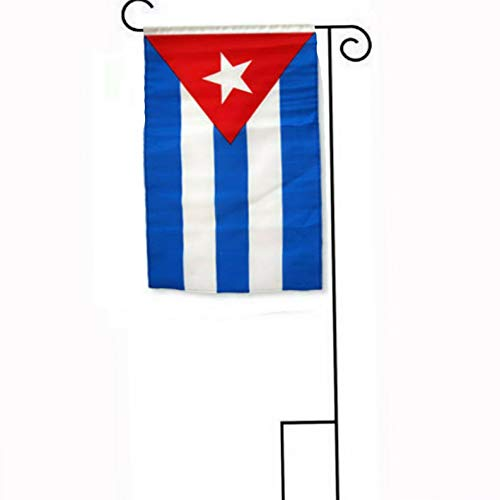 - Mikash 12x18 12x18 Cuba Sleeved w/Garden Stand Flag | Model FLG - 2017