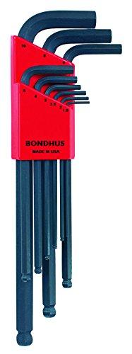 Bondhus 10999 Set of 9 Balldriver« L-wrenches, sizes 1.5-10mm