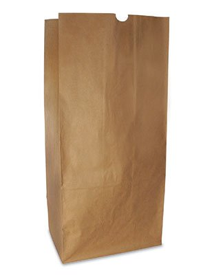 16'' x 12'' x 35'' 50 lb. Unprinted Biodegradable Lawn and Leaf Kraft Paper Bags - 2 ply (50 Bags) - AB-175-11-02 by Miller Supply Inc