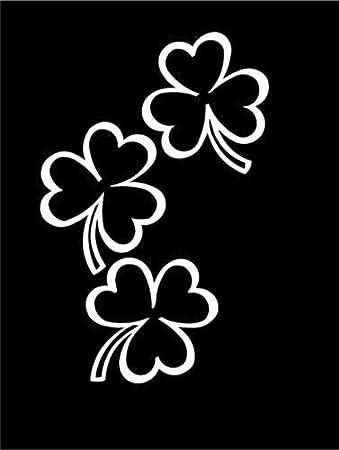 Shamrock group Irish luck lucky fun truck sticker clover WHITE Vinyl Decal