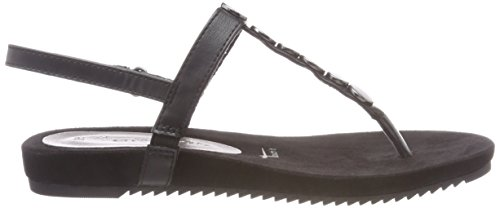 Tamaris Women's 28613 T-Bar Sandals Black (Black 001) iQwlaGBbln