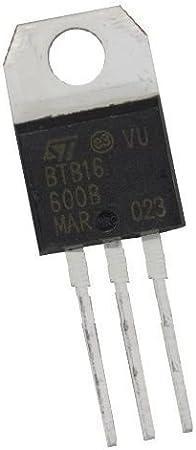 2 pcs BTB16-700BW  STM  Triac  700V  16A  50mA  TO220  NEW  #BP