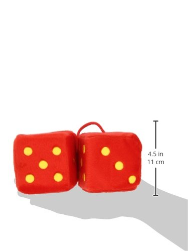 Sumex DADOS50 Furry Dice with Dots 7 x 7 Red// Yellow