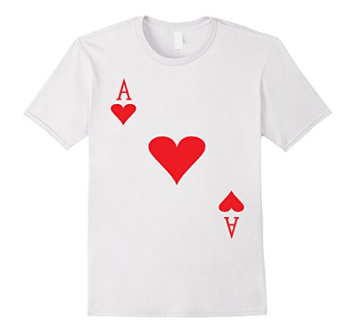 Mens Lovely Ace of heart, gambling, playing card Large White