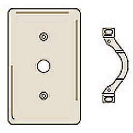 Bryant NP12I Telephone and Coax Plate, 1-Gang, Standard, Ivory Nylon, Strap(Pack of 30)