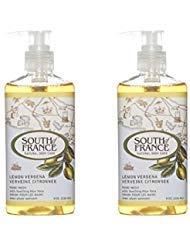 South Of France Liquid Soap, Lemon Verbena, 8 Fluid Ounce (Pack of 2) (Soap Of South France Bar Coconut)