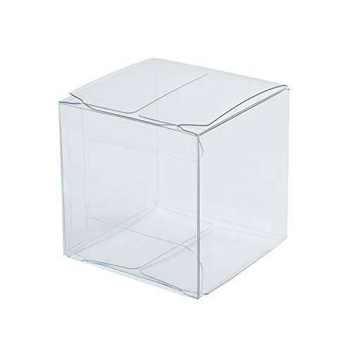 Ling's moment Clear Gift Boxes 2 x 2