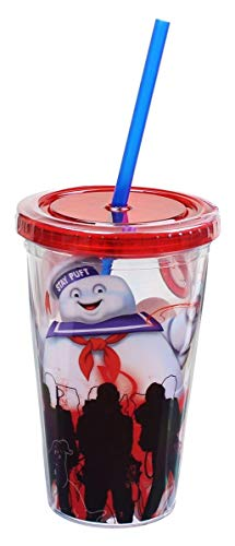 Ghost Buster Red Carnival Cup with Red Lid and Blue Straw with White Printable Cute Ghost!!
