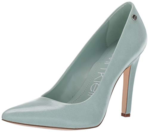 Calvin Klein Women's Brady Pump, Celadon Varnished Crackle Leather, 11 M M US
