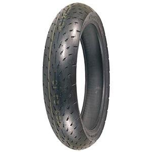Racing Slick Belted Tire - Shinko 003 Stealth Motorcycle Tire Front 120/60-17 Radial