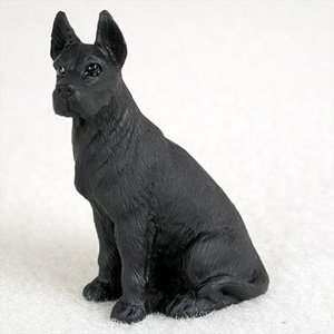 Black Great Dane Figurine - BonsaiOutlet Great Dane Black Dog Figurine, Height Approx. 2 Inches