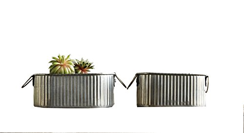 Creative-Co-op-DA6603-Corrugated-Tin-Bucket-Set