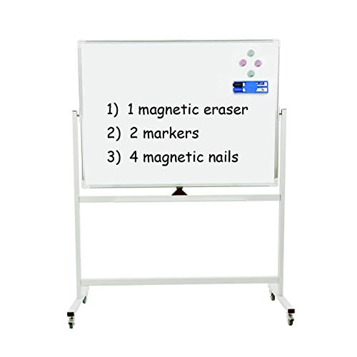 Mobile Dry Erase Magnetic Whiteboard - 47
