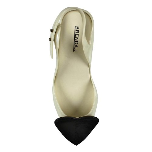 Brenda J. Women's Court Shoes Beige - cream-black EXB7ANuY25