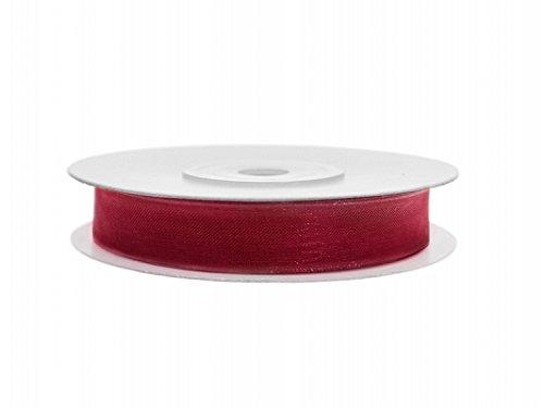 Party Deco Rouleau Ruban Bobine Mousseline, Couleur Rouge, tszf6–007