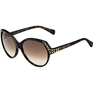 A. McQueen 4216/S Sunglasses-0TVD Havana (CC Brown Gradient Lens)-58mm