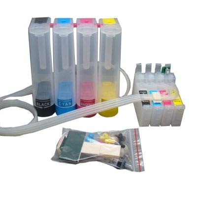 for EUR CISS with Permanent Chip Printer Printer Parts for Eps0n Workforce WF-7110 DTW//WF-7610 DWF//WF-7620 DTWF//WF-3620 WF-3640DTWF