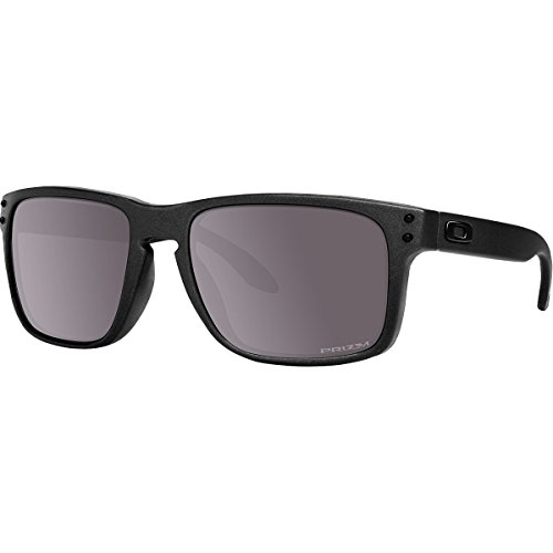 Oakley Men's Holbrook Sunglass, Steel/Prizm Daily - Prizm Polarized