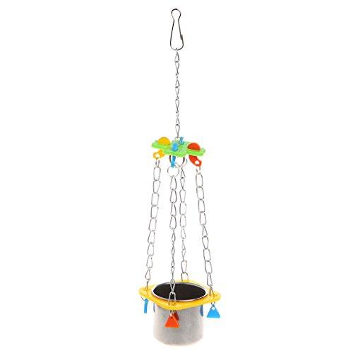 2.75' Stars (Itemap Bird Cage Parrots Parakeet Cockatiel Cockatoo Hanging Feed Bowl Swing (S-10.23x2.75x2.75''))