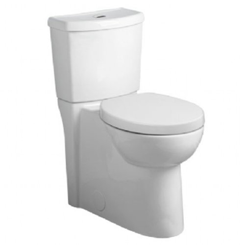 American Standard 2794.204.020 Studio Concealed Trapway Dual Flush Right Height Elongated Toilet, White (Commercial Studio)