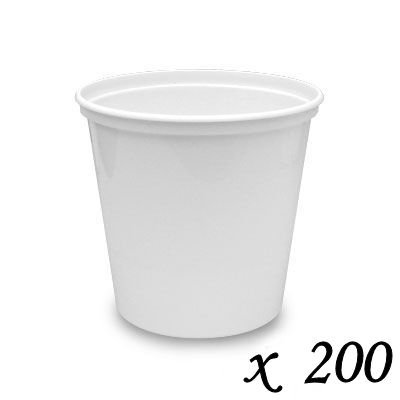 (200 Berry Plastics Plastic Stock Portion Cups - White - 2)