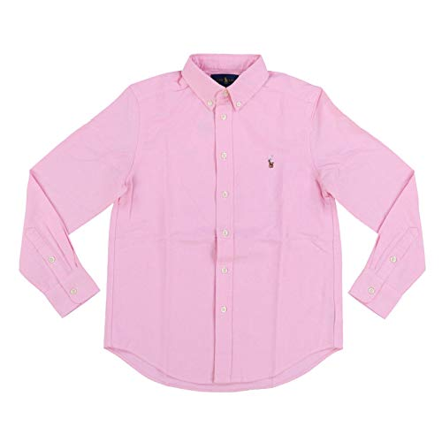 RALPH LAUREN Boys Long Sleeve Oxford Shirt (L (14-16), New Rose) ()
