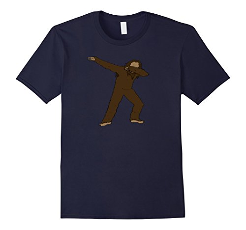 Ideas Costume Bigfoot (Mens Funny Sasquatch Dab T-Shirt - Dabbing Bigfoot Hip Hop Dance Medium)
